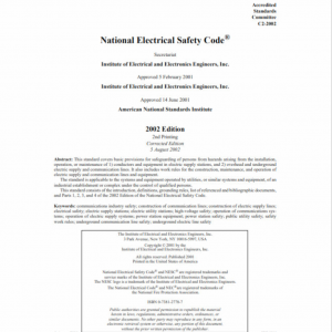 2002 National Electrical Safety Code