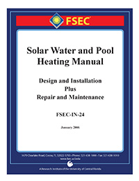 solar water and pool heating manual design and installation plus repair and maintenance